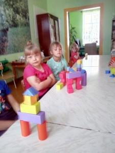 замок из кубиков